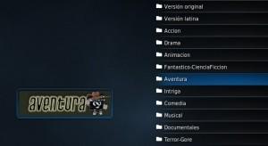 Listado de categorías