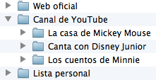Menú para el add-on de Disney Junior en XBMC