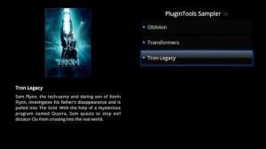 """PluginTools mostrando """"Películas"""" en XBMC con Quartz"""