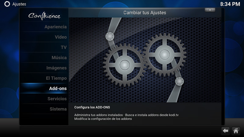 Como desinstalar un add-on en Kodi (paso 2)