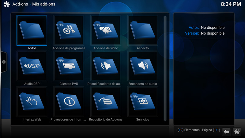 Como desinstalar un add-on en Kodi (paso 4)