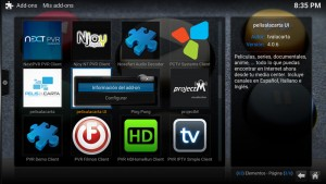 Como desinstalar un add-on en Kodi (paso 6)